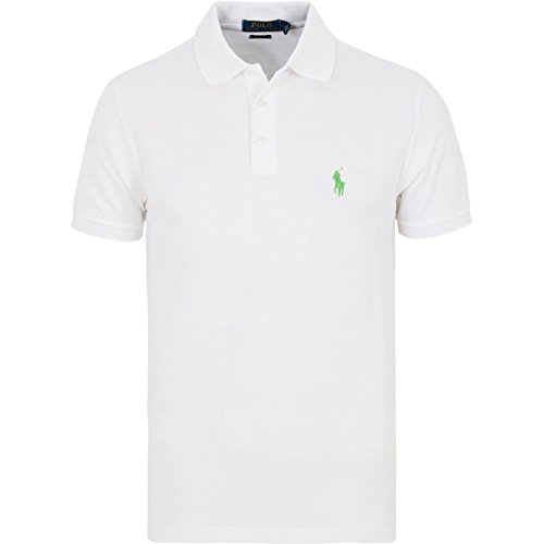 Polo-pony-shirt (RALPH LAUREN Polo Herren Poloshirt small Pony Custom Fit S-M-L-XL-XXL Outletware, Farbe:Weiß, Größe:S)