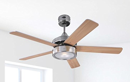 31dYnUjh8eL - Westinghouse Ceiling Fans 78545 Hercules One-Light 132 cm Five-Blade Indoor Ceiling Fan, Brushed Nickel Finish