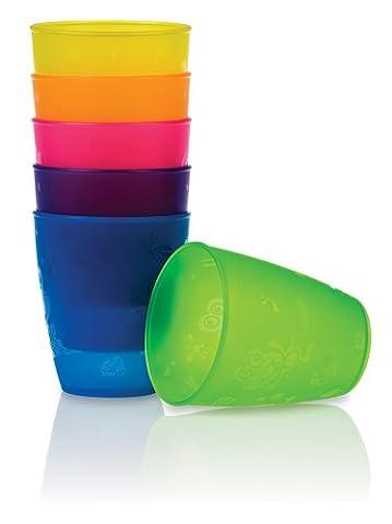 Nûby Lots de Biberons - Lot de 4 gobelets polypropylène 270 ml + 18 mois