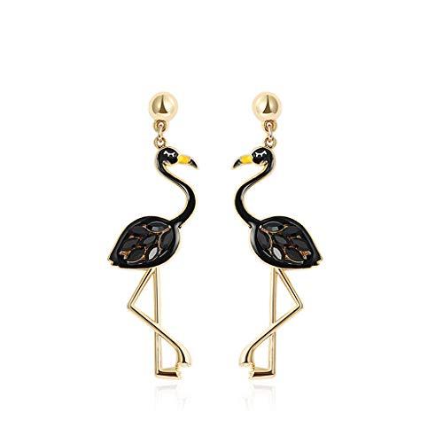 Lan chen grandi orecchini esagerati temperamento femminile personalità hipster pendenti orecchini lunghi orecchini elfo personalità esagerato orecchini marea uccelli