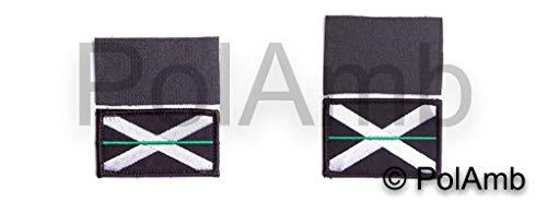 Dünn Grüne Linie Scottish Ambulance Emt Scotland Saltire Klettband Rückseite Abzeichen Patch Set -