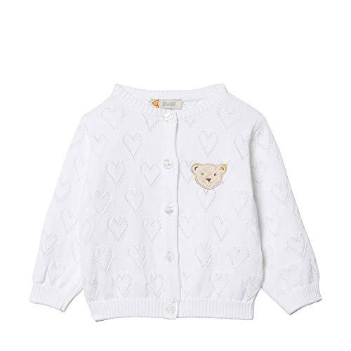 Steiff Baby-Mädchen Strickjacke, Weiß (Bright White 1000), 68