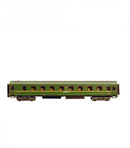 Keranova keranova295-021: 87Escala 29x 4x 5,5cm Verde Clever Papel Tren colección Dormir Coche 3D Puzzle (maletín)