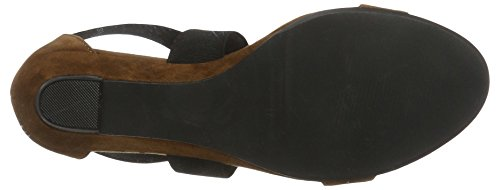 BIANCO - Sandale Mit Elastik Und Kleinem Keil, Sandali Donna Marrone (Light Brown)