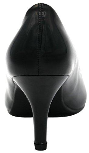 AgeeMi Shoes Femme Escarpins Talon Haut Sexy Stiletto Pointue Chaussures Noir