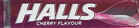 Halls Sugar Free Cherry Mentho-Lyptus Throat Lozenges Stick 32 g
