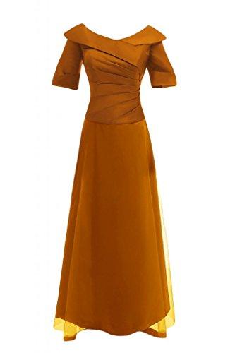 Sunvary a maniche lunghe in stile cinese da sera, Donna Orange