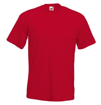 Fruit of the Loom Herren Plain Heavy Cotton T-Shirt Red XXXL -