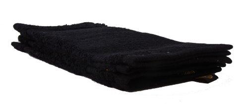 Gözze New York Seiftuch, 4er Set, 100% Baumwolle, schwarz, 30 x 30 cm, 550-1000-A2