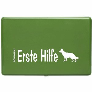 Söhngen Wau-Wau Verbandkasten für Hunde Kunststoff grün