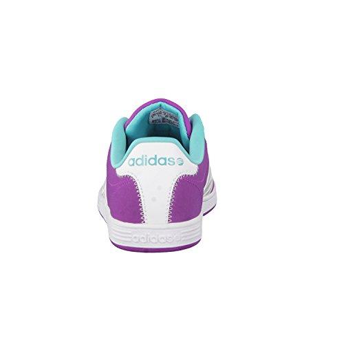 adidasVLCOURT - Scarpe da Ginnastica Basse Unisex – Bambini Rosa (flash pink s15/ftwr white/vivid mint f14)