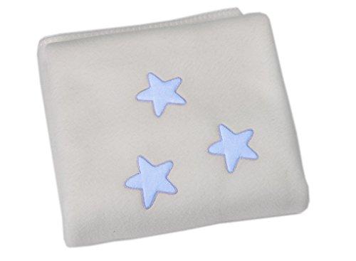 Belino 27952 - Manta para minicuna o coche, 80 x 110 cm, con estrella de color azul