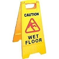 CAUTION WET FLOOR/CAUTION CLEANING IN PROGRESS SIGN 2 SIDED