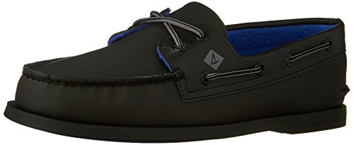 Sperry da uomo a/o 2eye suede boat shoe, nero