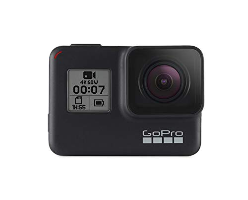 Gopro Hero 7 Camera with Splash Bag and 3 Way Grip (Black)