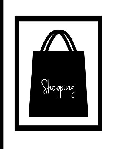 Shopping Notebook ~ Black and White Shopping Bag