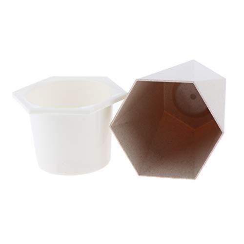 B Blesiya Kräutertopf für frische Kräuter, Pflanzgefäß/Blumenkübel mit Bewässerungs System - Beige - S