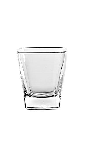 BARSKI europäischen Glas-quadratisch-Double Old Fashioned Tumbler Gläser-Einzigartige-Set von 6-11Oz-Made in Europe 8 Double Old Fashioned