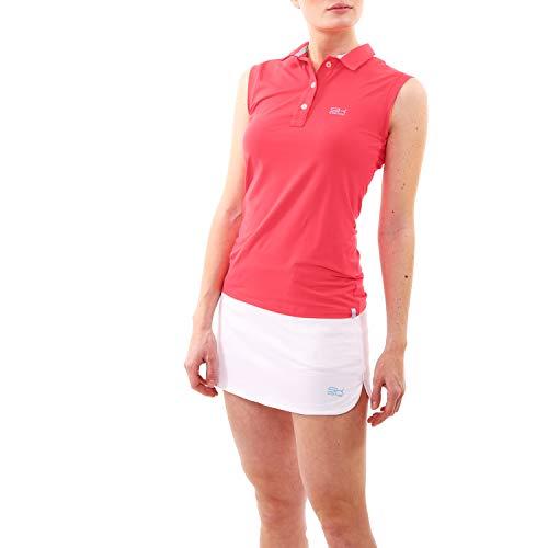 Damen Tennis, Golf, Sport ärmelloses Poloshirt, pfirsich, Gr. S ()