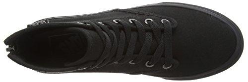Vans Camden Hi Zip, Sneakers Hautes Femme Noir (Canvas/Black/Black)