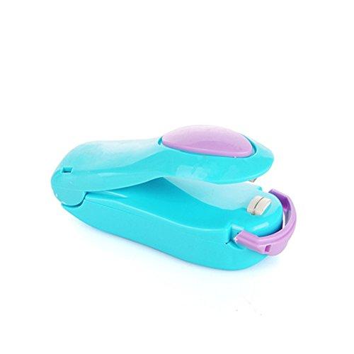 XMDZ Hand Folienschweißgeräte Hitze Eisendraht Bag Sealer für Snack Süßigkeiten Lebensmittel Lagerung PP PE Beutel Blau