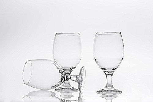 Bier Gläser Set von 6, 131/4oz bruchfestem Stielglas Elegante Glaswaren, klar (Bier Gläser Bulk)