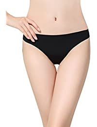 c52186136 LinvMe Women s Sexy Solid Seamless Low Rise Thong Underwear