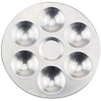 Compartimientos Separados de Aluminio Paleta de Mezcla de Acuarela Mezclador de Color Cerámica Arcilla Herramientas para Colorear para Arcilla polimérica