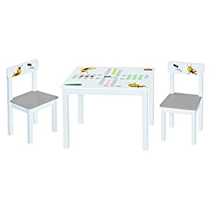 roba-kids - Conjunto de mesa y sillas de juego, multicolor, Única (Roba 450019RS3)
