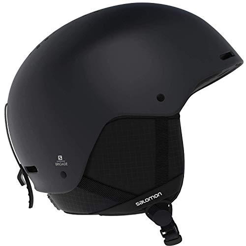 Salomon Herren Brigade Ski- und Snowboardhelm, ABS-Schale, EPS 4D-Innenschaum, Kopfumfang 56-59 cm, schwarz, Größe M, L40537200 -
