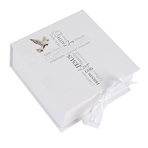 Confirmation Gift - Keepsake Box With Cross and Sentiments New