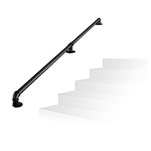 Handlauf aus Schmiedeeisen für Türgriffe zur Wand- und Bodenmontage führen direkt zum Eingang des Treppenhauses oder des Kellers. Innen Außen -treppen -