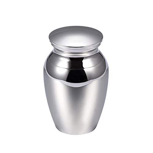 LUVFAOAIWO Urnen für Haustier menschliche Asche Edelstahl Pet Asche Medaillon Begräbnis Sarg Silber schwarz blau grau Memorial Schmuck für Asche -
