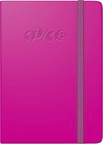 Brunnen 1073268268 Taschenkalender Modell 732 Kompagnon, 2 Seiten = 1 Woche, 100 x 140 mm, Soft-Cover Recyclingleder-Einband pink, Kalendarium für 18 Monate