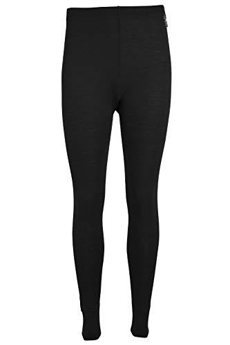 Mountain Warehouse Merino Thermohose, Funktionshose für Damen - Leichte Hose, atmungsaktiv, antibakteriell, feuchtigkeitsregulierend, pflegeleicht - Ideal für Winter Schwarz 36 DE (38 EU)