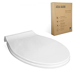 Aqua Bagno Talis Universal Premium Toilet Seat - High-Quality Antibacterial Toilet Seat Made of Duroplast with Soft Close and Removable - Toilet Seat - Easy Assembly - Easy Clean Toilet Lid