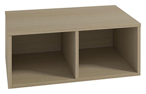 LOWE Muebles Uno Cubo combinable, Melamina Roble poro, 75 x 30 x 30 cm