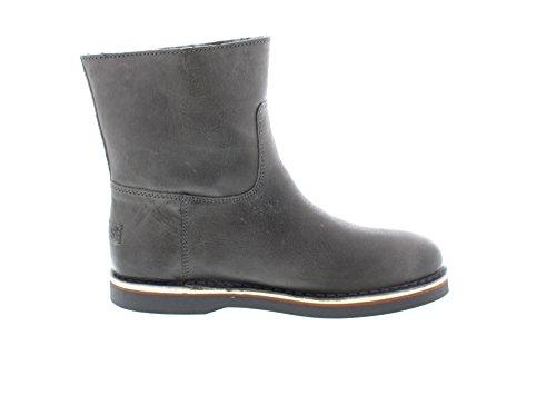 Shabbies Amsterdam Shabbies ladies short boot 16cm with DF55 Merino lammy lining Alissa, Bottes Classics de hauteur moyenne, doublure chaude femme Grau (Grey 102)