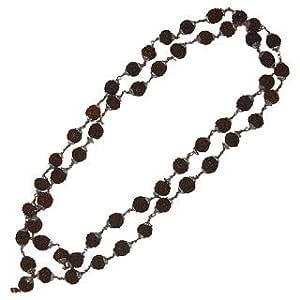 Lakshmi Puja Stores Rudraksha Mala Metal Kontted 54 Beads For Men And Women