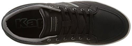 Kappa Cranston, Baskets Basses Homme Noir (919/Black/Mid Grey/Lt Grey)