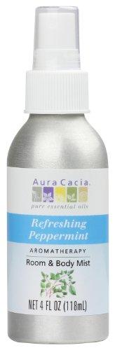Aura Cacia (Aveiro) Raum und Body Mist, erfrischende Pfefferminz, 4Flüssigunze