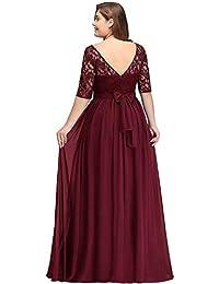 ef2779b590373 MisShow Robe Femme Demoiselle d honneur pour Soirée Cérémonie Elégante avec  Manche Floral en Mousseline