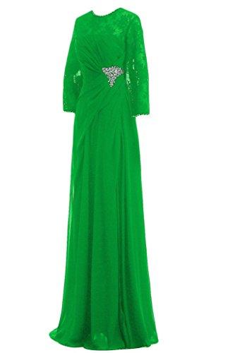 Sunvary guaina Scoop maniche a 3/4 da donna in simil Chiffon con perline, con scritta Mother of the Brides vestiti Green