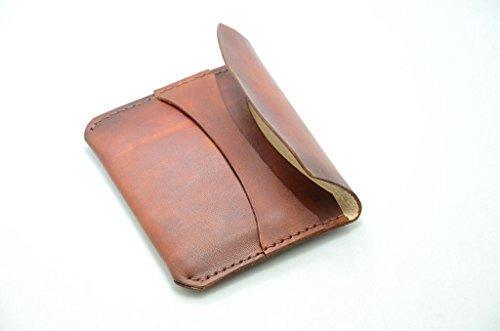 Mens Leather Wallet / Brautjungfern Geschenke Minimalist Wallet Leder, Kreditkarte Brieftasche alte braune Geldbörsen Mens Wallets Kreditkarten