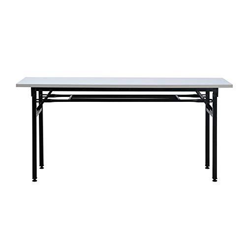 Qing MEI Klapptisch Klappbarer Kleiner Esstisch Für Den Haushalt Verstellbarer Lehrertisch Mit Tischfuß Studententisch Rechteckiger Konferenztisch - 7 Größen (Color : White, Size : 100x40cm) - Klapptisch Verstellbar Kleiner