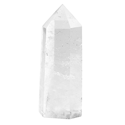 JOVIVI Naturstein Bergkristall schöne Spitze Größe 60-65mm Super Qualität Edelstein Spitze Stein Dekoration 1pc/per Box