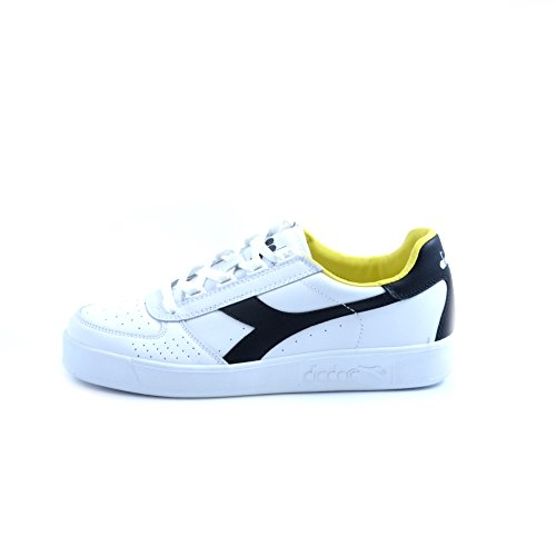 Diadora B.Elite herren, glattleder, sneaker low White/Black/Cyber Yellow