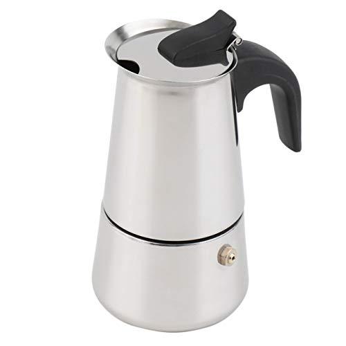 Edelstahl Espresso-topf (Ballylelly-2/4/6-Cup Percolator Herd Top Kaffeemaschine Moka Espresso Latte Edelstahl Topf heiße Verkäufe (Silber - 2 Tasse))