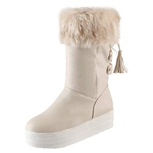 Damen Weinlese Stiefel Flache Booties Weiche Schuhe Stellten Füße Knöchel Mittlere Stiefel SanKidv