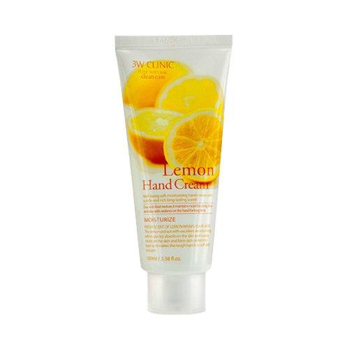 3W Clinic Lemon Hand Cream Handcreme mit Zitronen Extrakt für Männer und Frauen Handpflege gegen trockene Haut Maniküre